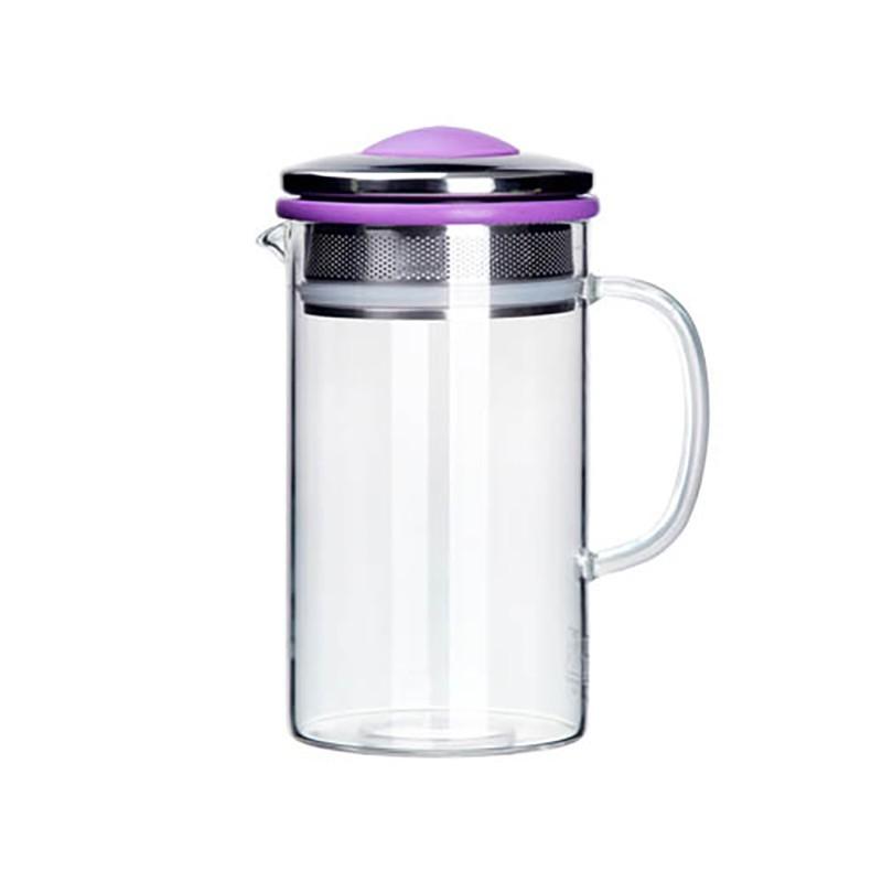 五彩環易泡壺400ml 泡茶壺 泡茶 沖茶器 沖泡壺-紫色
