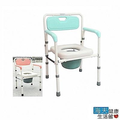 恆伸 海夫健康生活館 鐵製烤漆 折合軟墊 便盆椅 ER-4221
