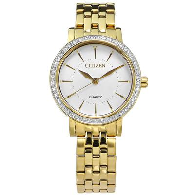 CITIZEN優雅晶鑽鑲圈日本機芯不銹鋼 EL3042-84A 手錶