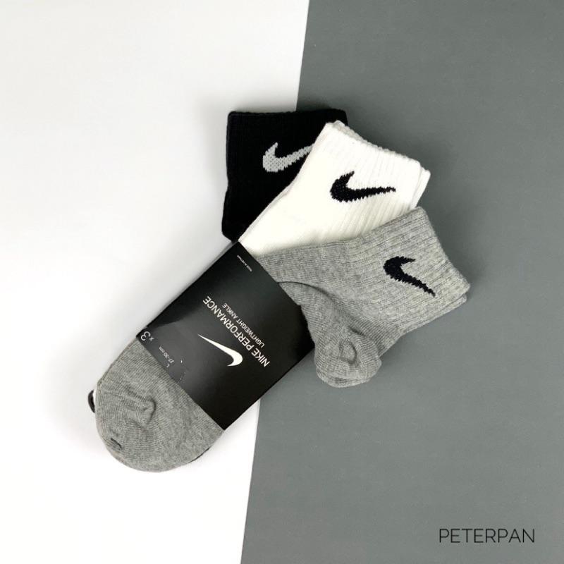 NIKE 黑白灰 三雙組合包 襪子 SX4706-901【彼得潘】