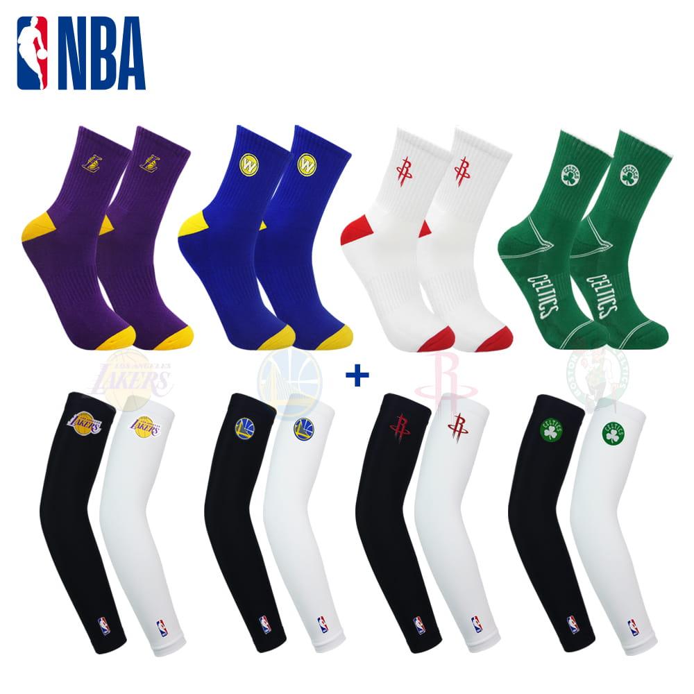 NBA 球隊款袖襪組合款