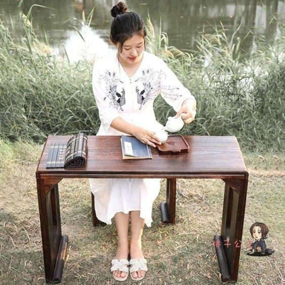 古琴桌 燒桐實木仿古共鳴古箏琴桌國學桌書法桌禪意懷舊中式T 2色