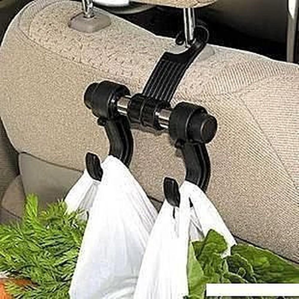 zfbox 汽車掛鉤 車用掛鉤 椅背掛鉤 後座方便掛鉤 黑色雙鉤型 雜物掛勾 簡易掛勾 多用途