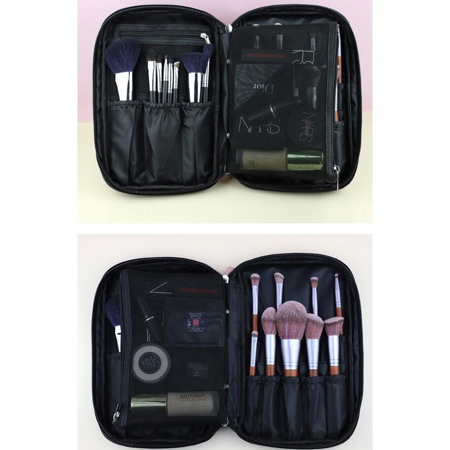 多功能化妝套刷空包 大容量13孔收納包裝便攜 手提包 拉鏈包 化妝刷包 牛津包愛來客只是化妝包