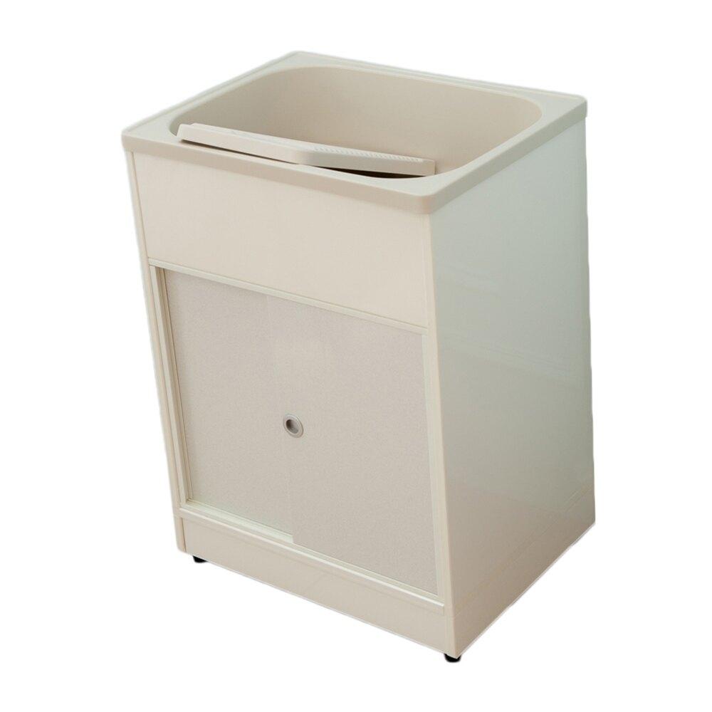 精巧櫥櫃型塑鋼洗衣槽(雙門)限時$3990/流理台/洗衣槽/洗手台/水槽/洗碗槽/洗衣板【JL精品工坊】