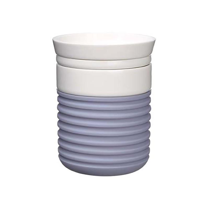 隨行杯(150ml) 隨身杯 外出杯 環保杯 咖啡杯 茶杯 隔熱水杯 防漏水杯 陶瓷杯-丁香灰