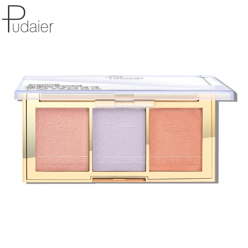 Pudaier 12色高光提亮修飾臉部珠光粉套裝 70g