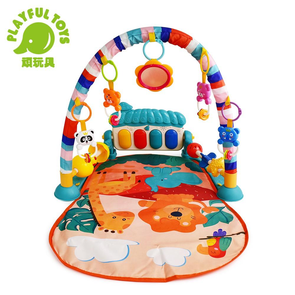【Playful Toys 頑玩具】蘑菇腳踏琴健身架 0629 (搖鈴 健力架 嬰幼兒 早教遊戲 益智互動 聲光玩具)
