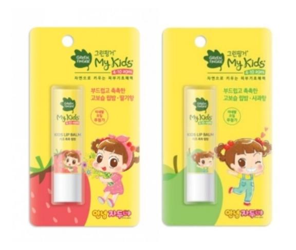 綠手指 GreenFinger My Kids 水潤潤唇膏4g(草莓味/蘋果味)