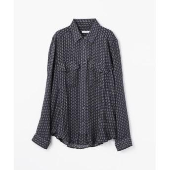TOMORROWLAND/トゥモローランド MARIE MAROT レーヨン ポケットシャツ 68 ネイビー系 L