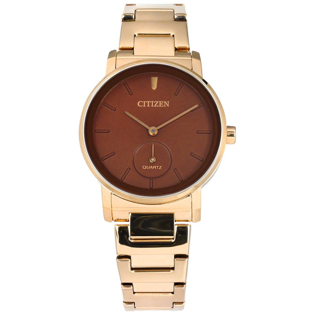 CITIZEN  EQ9063-55X 簡約時尚礦石強化玻璃日本機芯不銹鋼手錶