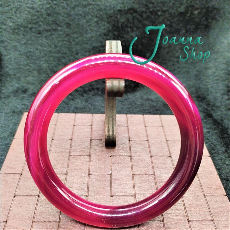 18.5圍天然冰種圓骨紅玉髓瑪瑙手鐲 (面寬1cm )-Joanna Shop-36