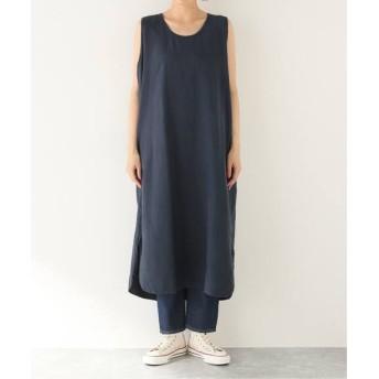 journal standard luxe 【TOUJOURS / トゥジュー】 STONE WASHED LINEN Tank Dress ネイビー 2