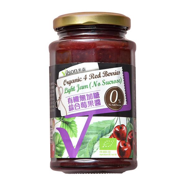 [米森] 有機無加糖綜合莓果醬 (290g/罐) (全素)