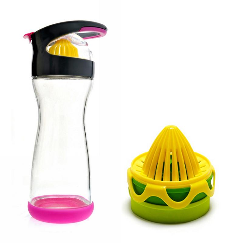 檸檬鮮萃冰盒+纖檸隨手瓶 - 桃紅