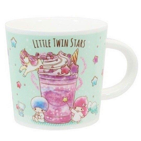 小禮堂 雙子星 馬克杯 陶瓷杯 咖啡杯 茶杯 250ml (綠紫 冰沙杯) 4518648-27249