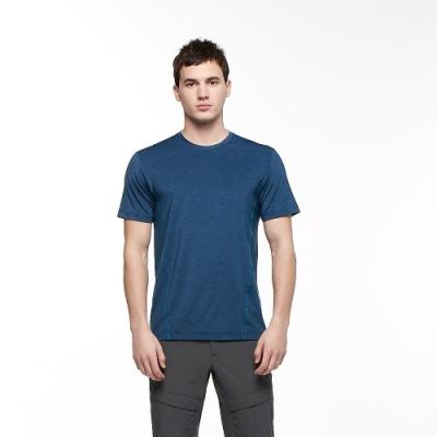 【HAKERS 哈克士】男 彈性吸濕排汗抗UV上衣(藍綠色)