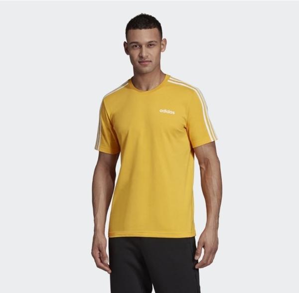 Adidas CORE LINEAR 男款黃色訓練短袖上衣 NO.EI9839