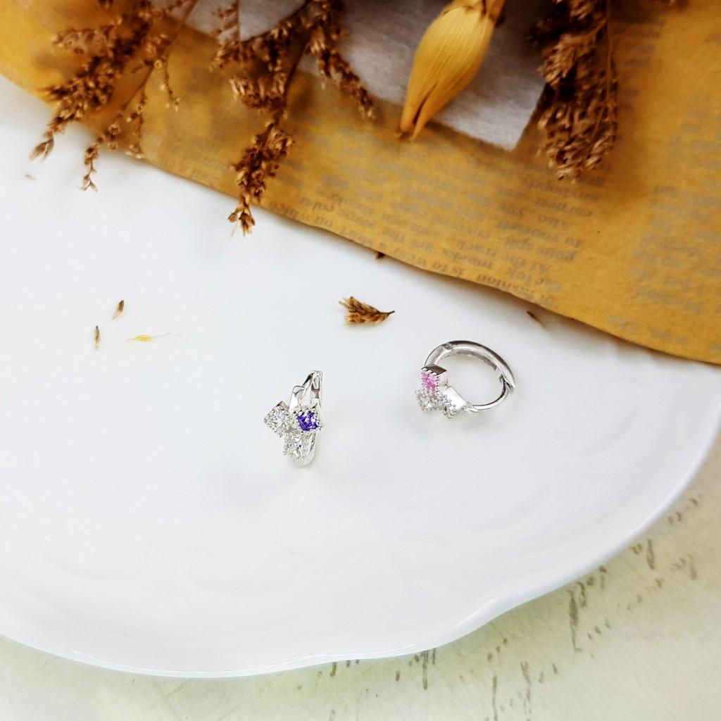 小安的店 925純銀 排列小方格 易扣耳飾 閨蜜 送禮 不過敏 EL0316-1