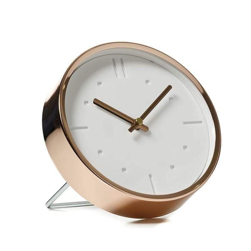 3D白可丁靜音壁桌鐘-16 cm (兩用型)