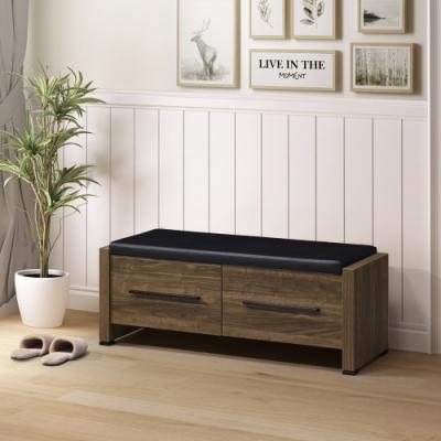 美傢 兩色可選/實用兩抽玄關椅/DIY自行組合產品/寬115.6深40高44.8公分