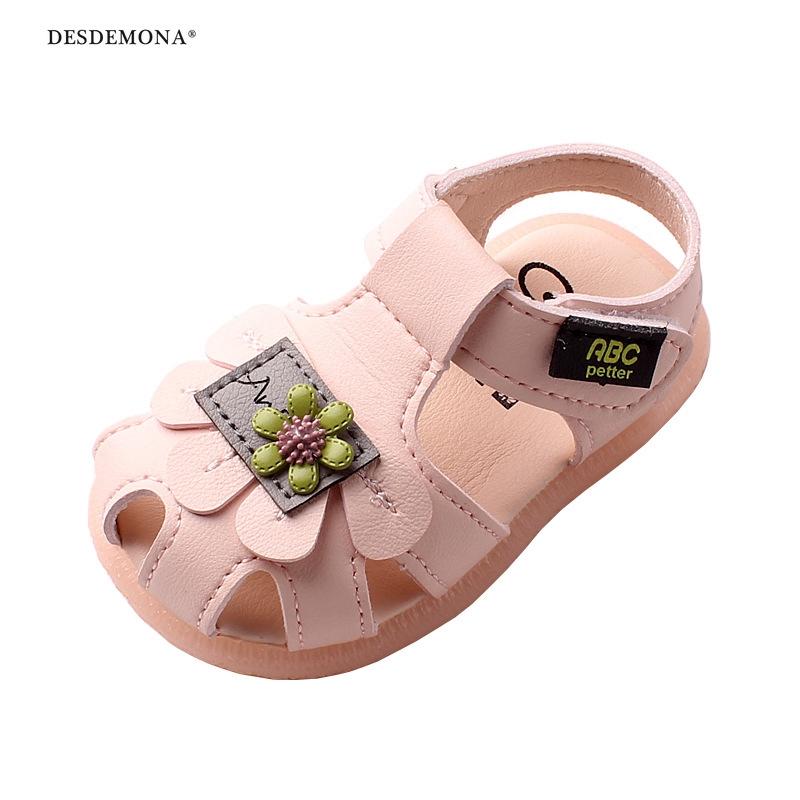 2020夏新款女寶寶涼鞋防滑軟底學步鞋嬰兒鞋