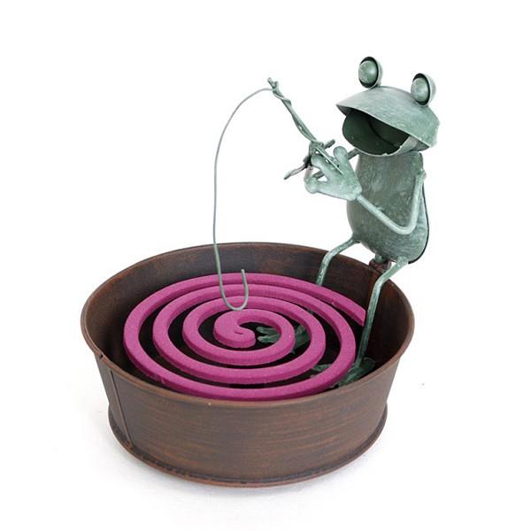 《齊洛瓦鄉村風雜貨》日本zakka雜貨 日式青蛙釣魚造型蚊香座 蚊香架 蚊香器 薰香器 夏季露營必備用品