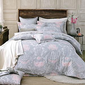【Indian】純綿雙人四件式兩用被床包組-蒔花蒔花