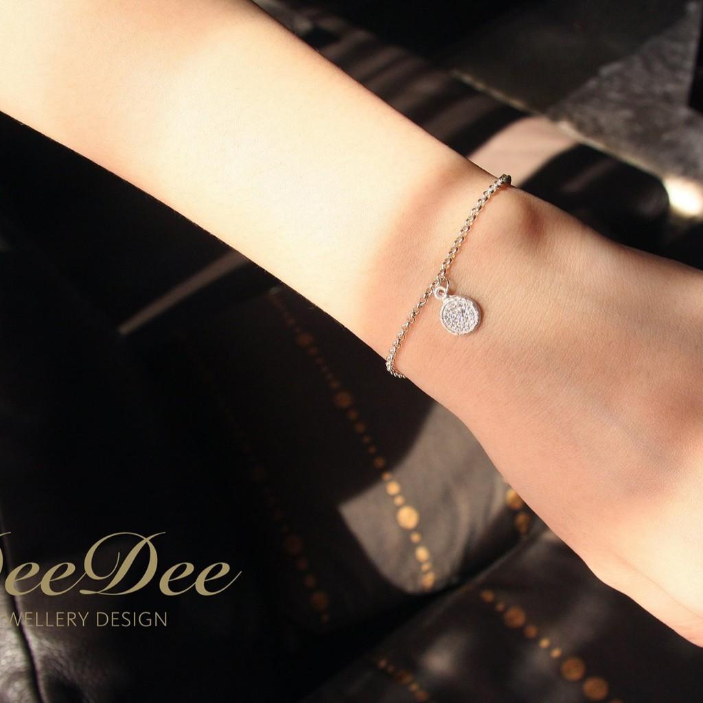 DeeDee Jewellery 密釘鑲鋯石小餅乾 925銀Charm手鍊 4月誕生石、生日石,生日禮物