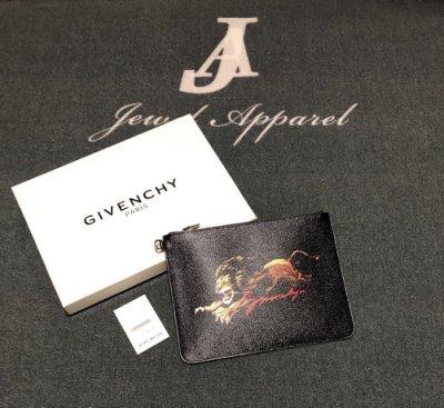 『Jewel Apparel』GIVENCHY 19S/S 獅子王 黑色 拉鍊款 手拿包 最新款 紀梵希