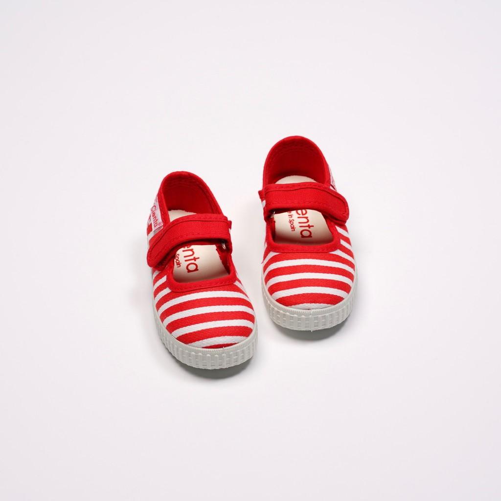 CIENTA 西班牙國民帆布鞋 56095 02 紅色條紋 經典布料 童鞋 瑪麗珍