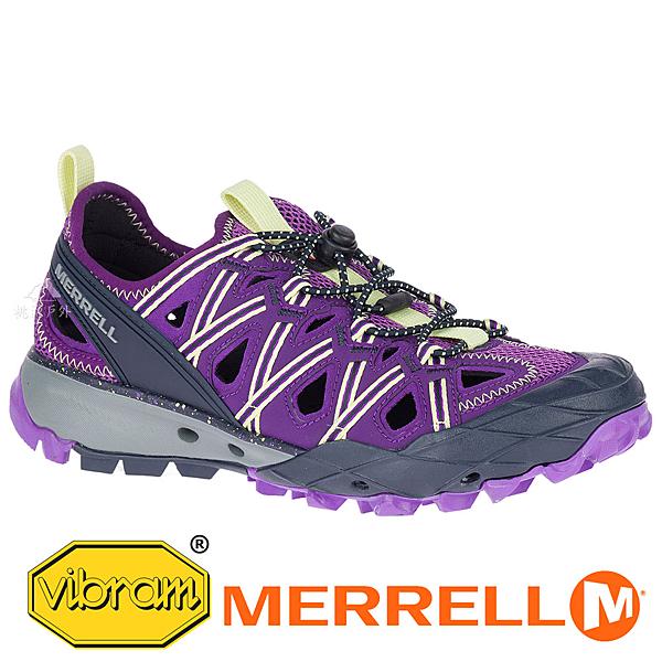 【MERRELL 美國】CHOPROCK SHANDAL 女水陸兩棲鞋『紫/檸檬黃』034174 功能鞋.多功能鞋.登山鞋