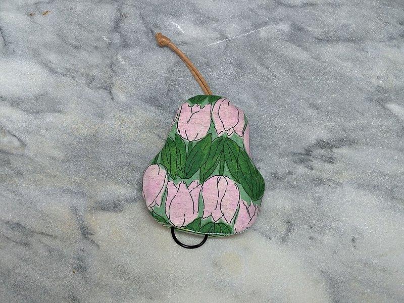 粉紫鬱金香 梨型鑰匙包【K200503】