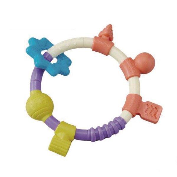 日本PEOPLE 新環狀手搖鈴咬舔玩具