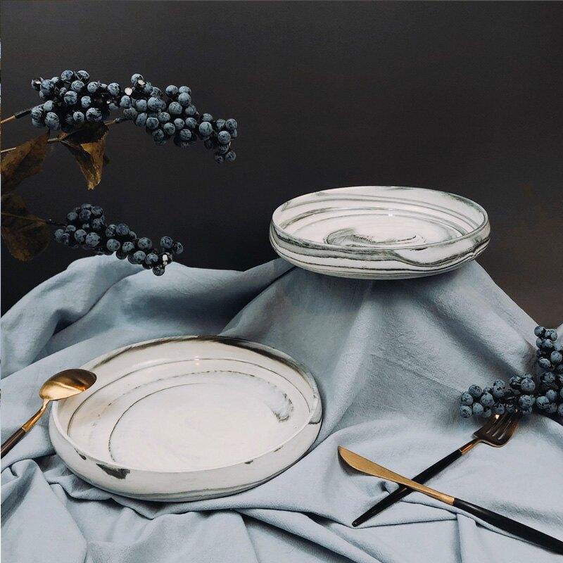 """石紋水盤8.5""""  21xH3cm-外星人餐具"""