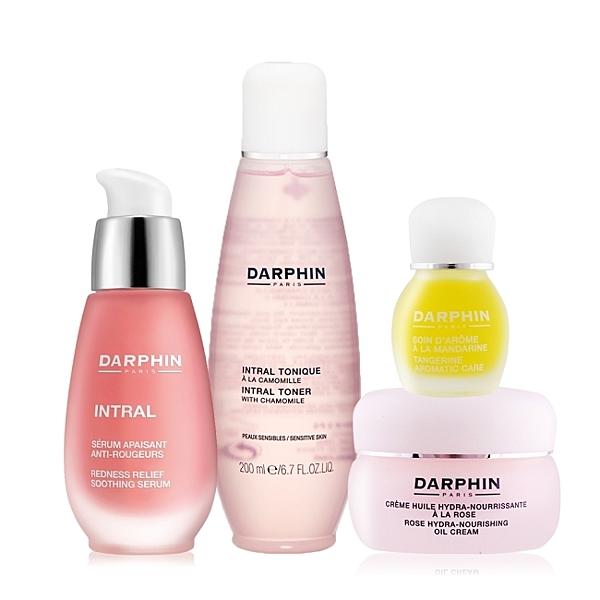 Darphin 朵法 粉紅療癒全效組[精華液+玫瑰乳霜+化妝水+甜橘精露]