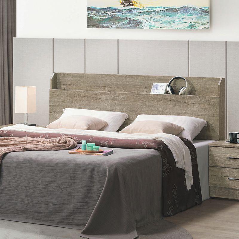 【RA436-3】鋼刷淺灰橡木5尺床頭片