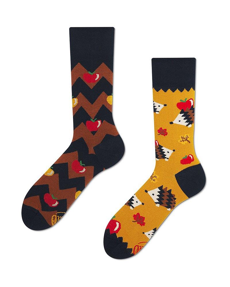 吃蘋果的刺猬 - 不對稱襪子 鴛鴦襪