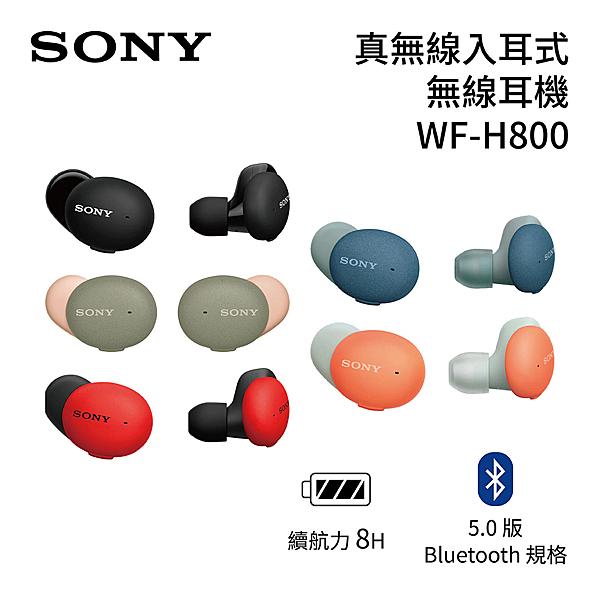 【結帳再折扣+免運送到家】SONY 索尼 真無線 H800 入耳式耳機 WF-H800 台灣原廠保固