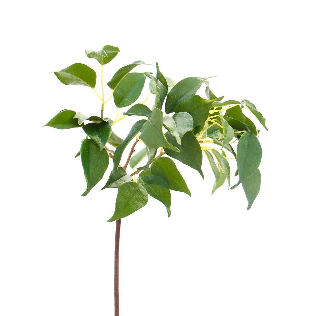 高級擬真榕樹葉|一枝入| 高級擬真人造花 花材 人造花材 永生花  乾燥花 不凋花  保鮮花 送禮 拍照道具 假花 花藝設計 人造植栽牆 婚禮佈置 活動佈置