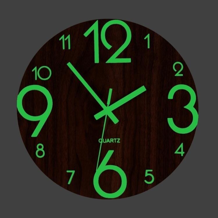 掛鐘 靜音鐘錶夜光掛鐘客廳現代簡約家用創意時鐘北歐臥室個性裝飾掛錶