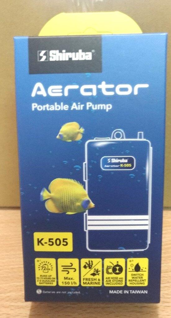 Shiruba 乾電池 K-505 打氣 幫浦  空氣 馬達 打氣泵 海釣活魚增氧機 釣魚 停電 魚缸 水族箱 含氣泡石 風管
