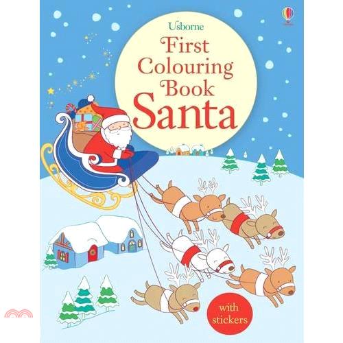 First Colouring Book Santa【三民網路書店】[75折]