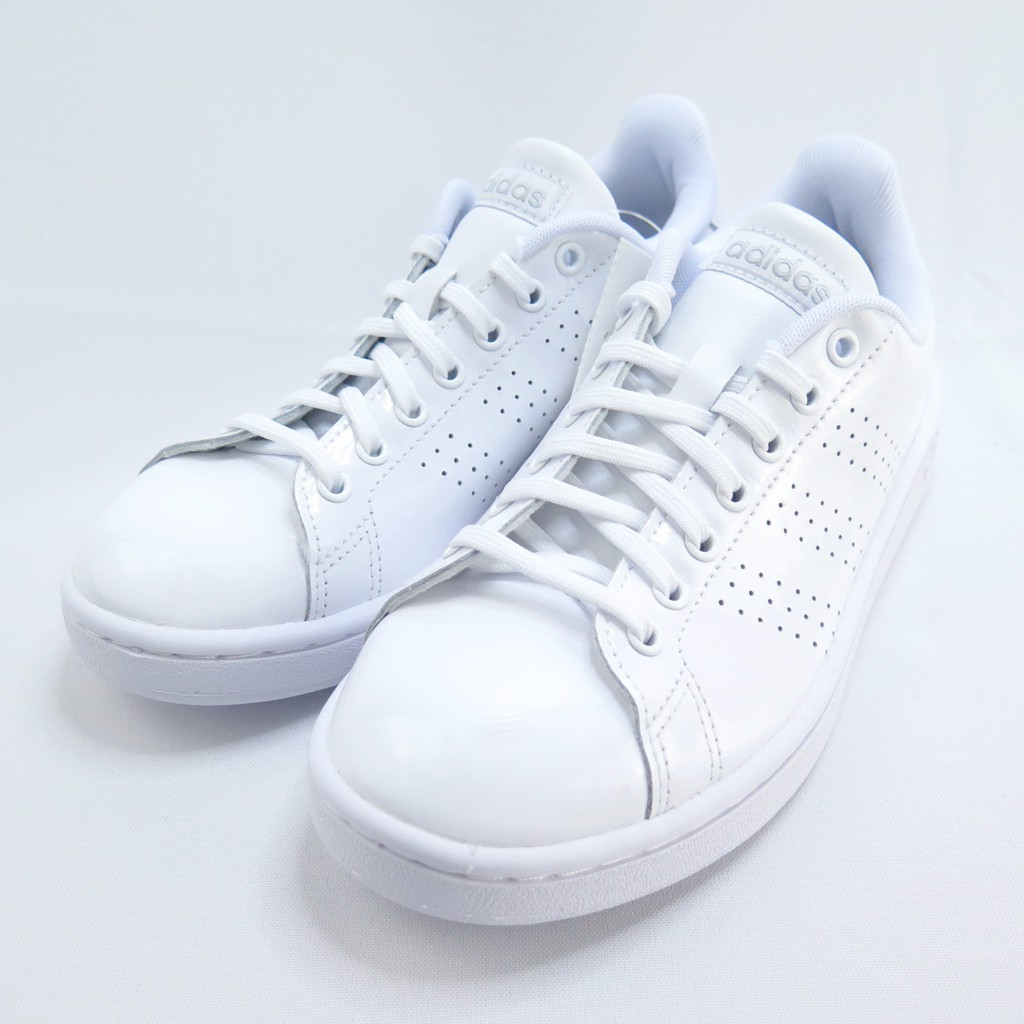 ADIDAS ADVANTAGE 女款 休閒鞋 公司貨 EE7494 皮革 全白【iSport愛運動】