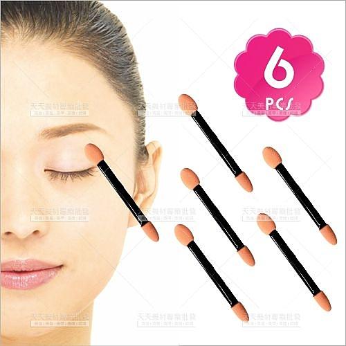WomanHouse黑桿雙頭乳膠眼影棒-6入[30799]臉部彩妝刷具/專櫃新祕一次性