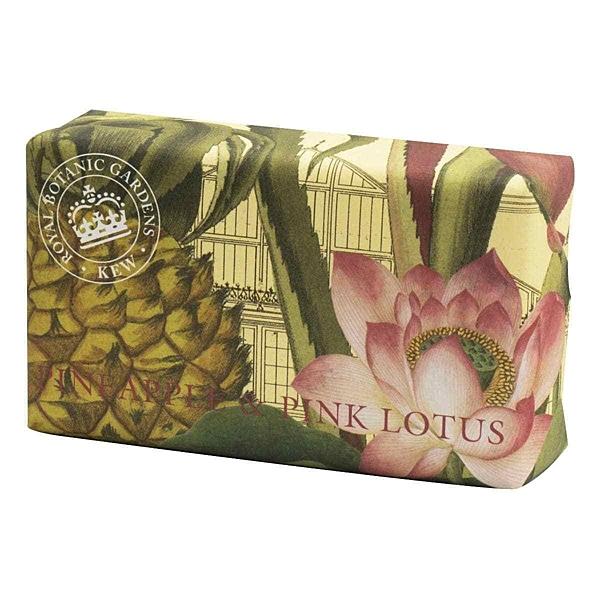 岡山戀香水~Kew Gardens 英國皇家植物園 乳木果油天然香皂 240g (鳳梨與蓮花) ~優惠價:299元