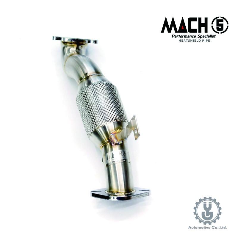 MACH5 高流量帶三元催化頭段 當派 排氣管 CADILLAC ATS-8 底盤系統【YGAUTO】