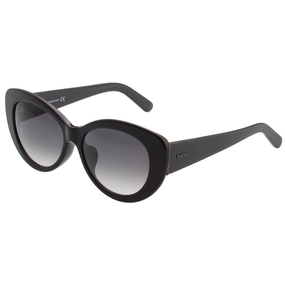 TOD'S時尚小貓眼太陽眼鏡 黑色 TO143F