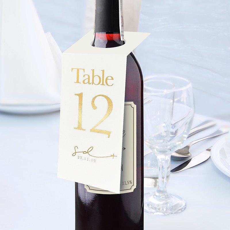 你的名字 紅酒枱號咭 紅酒存放名牌