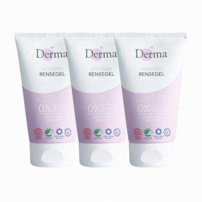 Derma女性有機洗顏凝膠三入組